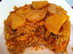 מתכון מנצח- עוגת אורז ותפוחי אדמה: